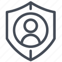 gdpr, officer, protection, pseudonymisation, pseudonymization icon