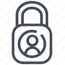 data, lock, personal, protection icon