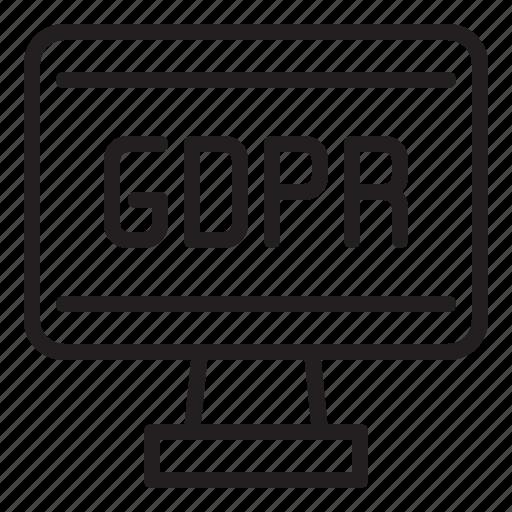 computer, gdpr, internet, network, online, web icon