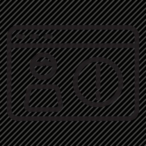 alert, data, error, gdpr, personal, warning icon