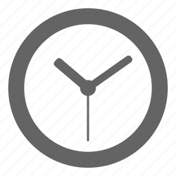 clock, company, general, office, solid, universal icon