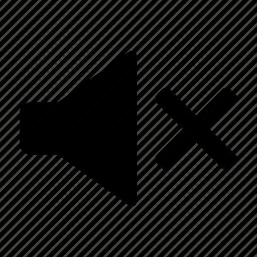 audio, music, no sound, silent, speaker icon