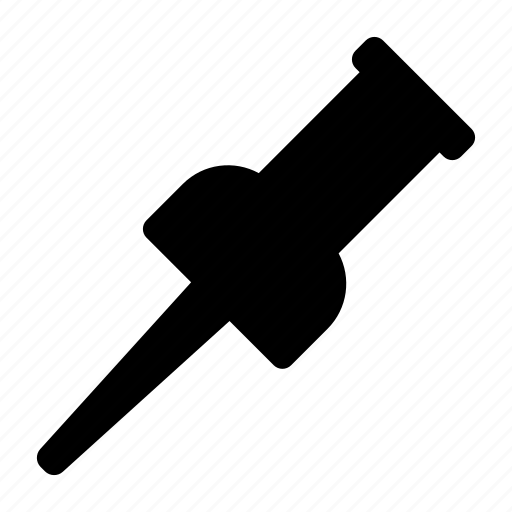 clip, document, pin, thumbtack icon