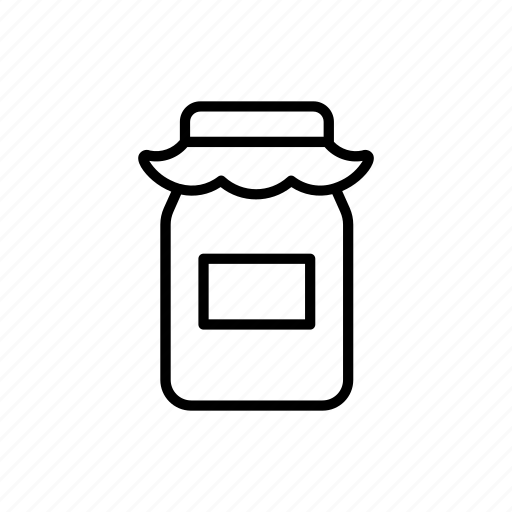 bottle, container, jam, jar, jelly icon