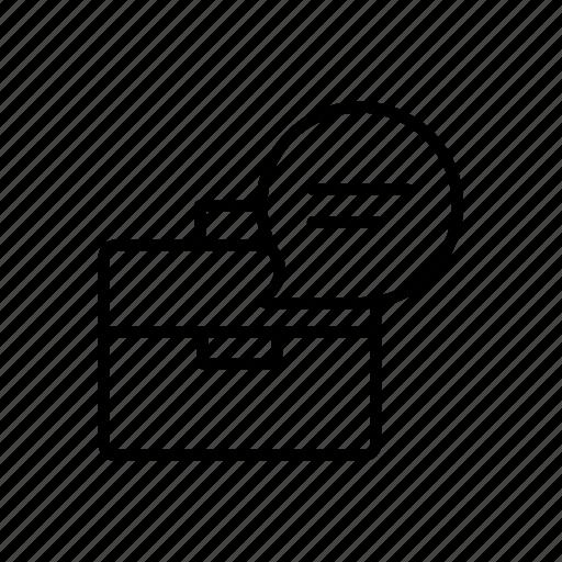 bag, briefcase, chat, portfolio icon