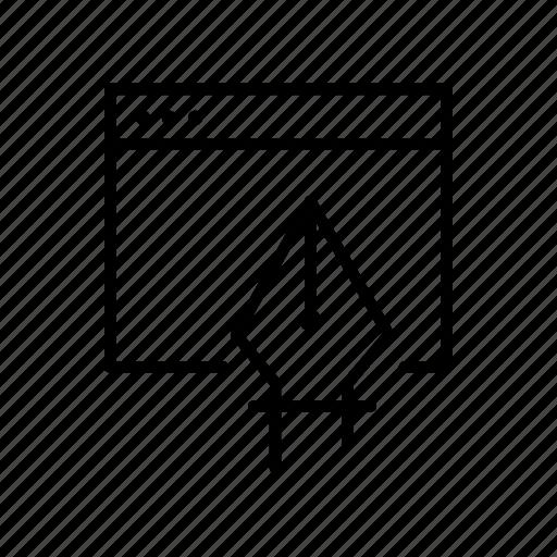 art, design, software, tool, vector icon