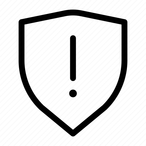 alert, caution, shield, warning icon