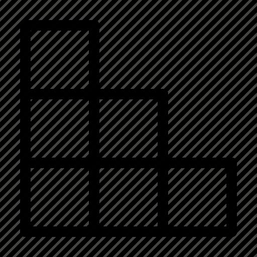 Blocks, cube, steps, build icon