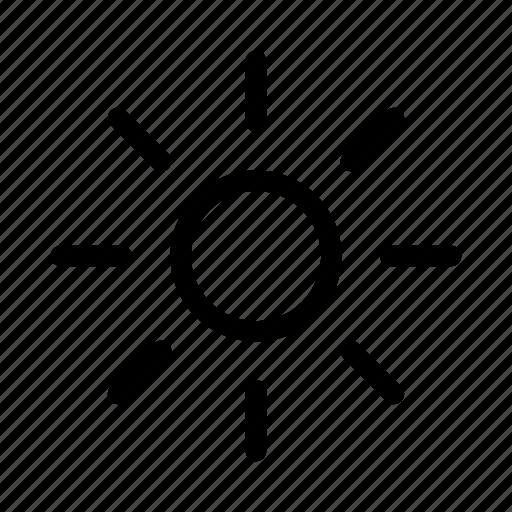 brightness, bulb, display, hot, light, sun icon