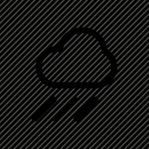 cloud, forecast, raining, rainy, weather, wind icon
