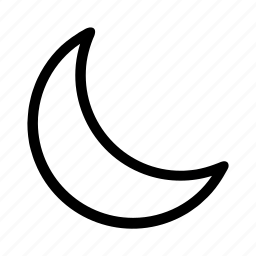 crescent, half, moon, night icon