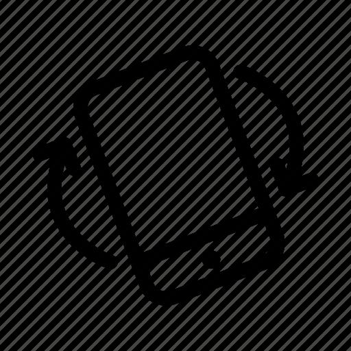 auto rotate, phone rotation, screen orientation, tilt icon