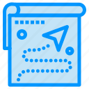 destination, map, position, route, target icon