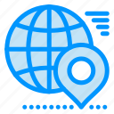 earth, globe, location, map, pin icon