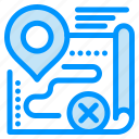 cancel, close, map, route, target icon