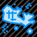 location, map, treasure, world