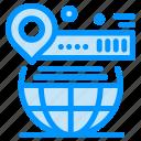 globe, map, pin, website, world icon