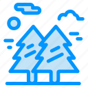 forest, hiking, nature, park, tree icon