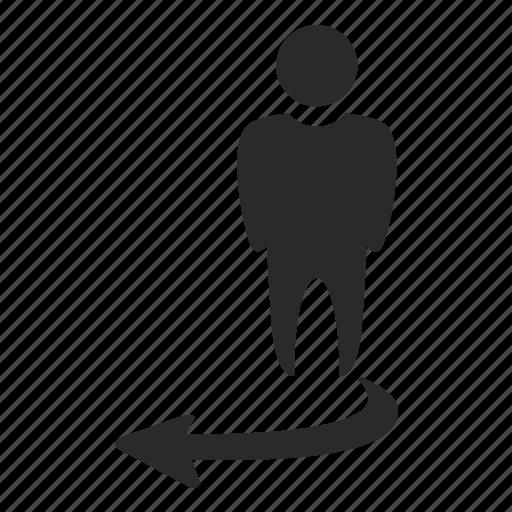 choice, location, man, return, way icon