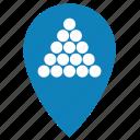 billiard, geo, locate, location, navigation, place, pointer icon