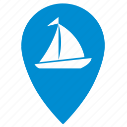 boat, geo, location, navigation, place, pointer, ship icon