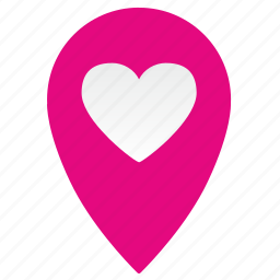 geo, location, love, map, navigate, place, pointer icon