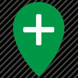 geo, location, medicine, place, pointer icon