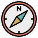accuracy, compass, correct, direction, north, pole, south icon