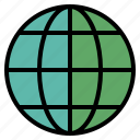 circle, global, globe, map, round, sphere, world icon