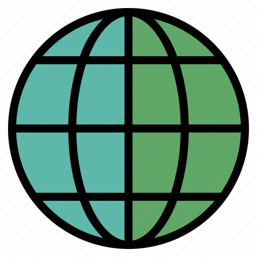 Geography color by nithinan circle global globe map round sphere world icon gumiabroncs Image collections