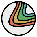 circle, contour, landscape, line, map, topographic, topography icon
