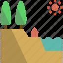architectureurban, elements, lake, soil, terrain, texture, tree icon