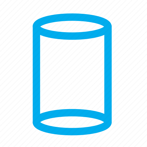 3d cylinder, cylinder, shapes icon