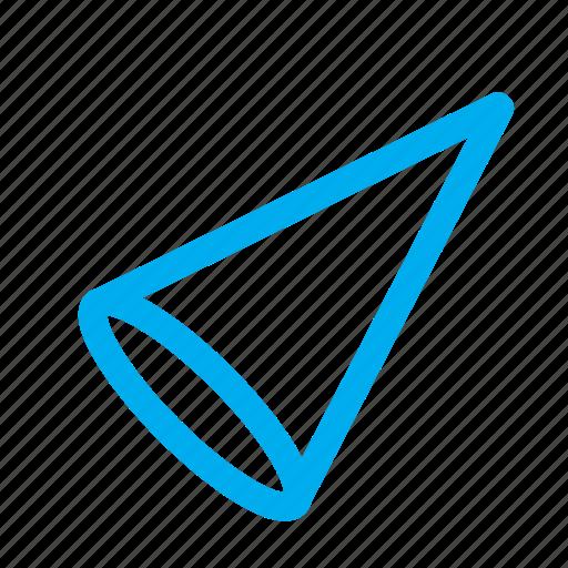 3d cone, cone, shapes icon