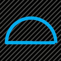 half circle, semi circle, shapes icon