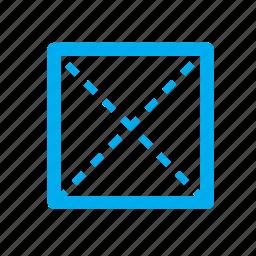 pyramid, shapes, square icon