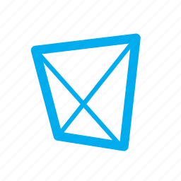 quadrilateral, shapes, trapezium icon