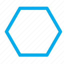 hexagon, shape, six sides icon