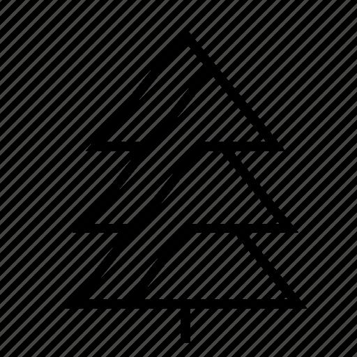 christmas, christmas tree, geometric, santa, snow, tree, winter icon