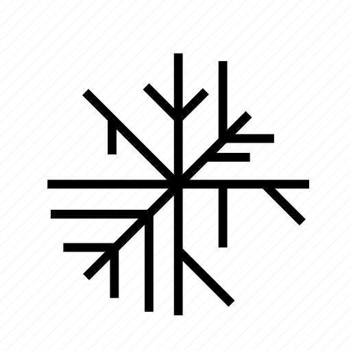 cold, geometric, snow, snowflake, snowing, weather, winter icon