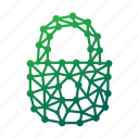 geometric, lock, locked, locker, password, polygonal, secure, secured, security, unlock icon