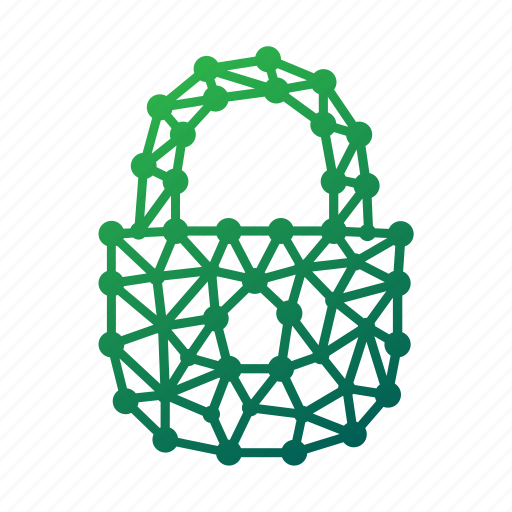 geometric, lock, locked, locker, password, polygonal, secure, secured, security, unlock icon