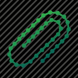 attach, attachment, clamp, clip, geometric, paperclip, polygonal icon