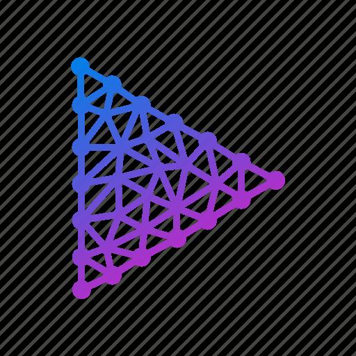 arrow, audio, geometric, music, play, polygonal, right arrow, sound, video icon