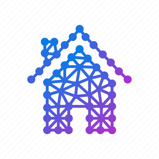 Building, estate, geometric, home, house, polygonal, property icon - Download on Iconfinder