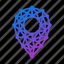 geometric, gps, location, location pin, map, navigation, pin, polygonal