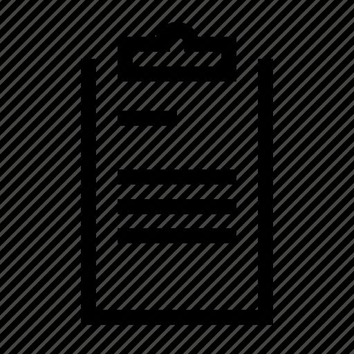 appunti, checklist, clip, clipboard, paper, playboard, task icon