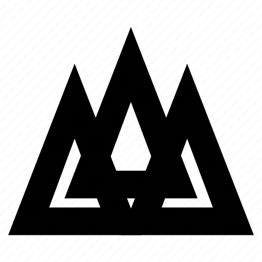 connection, geometric, group, network, peaks, social, success, team, triangle, trident, triple icon