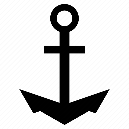 anchor, boat, fish, geometric, marine, nautical, sea, ship, stop, water, weight icon