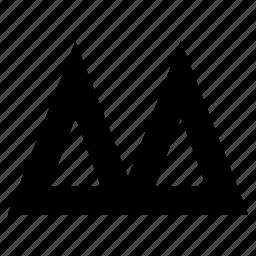 alpine, arrow, arrows, creative, design, geometric, graphic, graphics, minimalist, move, move forward, peaks, pointer, summit, triangle, triangles, up, upload icon